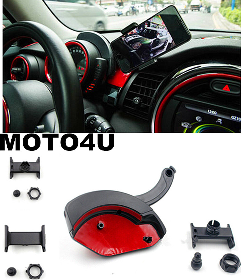 MOTO4U For Mini cooper F54/F55/F56/F57/F60 Car Mount Cradle Holder Stand for Mobile Smart Cell Phone GPS black vertical base stand holder mount cradle for microsoft xbox one console new