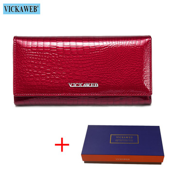 Alligator Patent Leather Women's Wallet Bags and Wallets New Arrivals Women's Wallets Color: Red and Box Ships From: Russian Federation