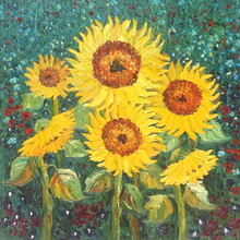 5D DIY Sunflower Diamond Painting Round Diamond Embroidery Full Drill Mosaic Stickers Rhinestone Cross Stitch Hobbies цена