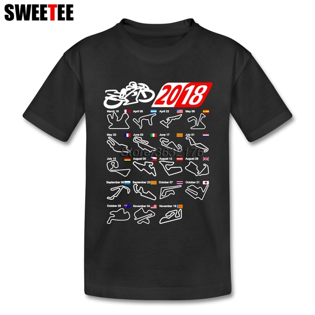 cotton calendar 2018 motogp circuits t shirt baby girl 4t 8t toddler boy t