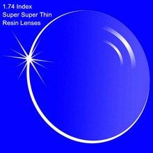 1,74 Índice de graduación la lente lentes resina gafas asféricas para miopía/hipermetropía/presbicia Super súper fino con recubrimiento