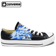 Kakashi Sharingan Hand-Painted Converse Sneakers