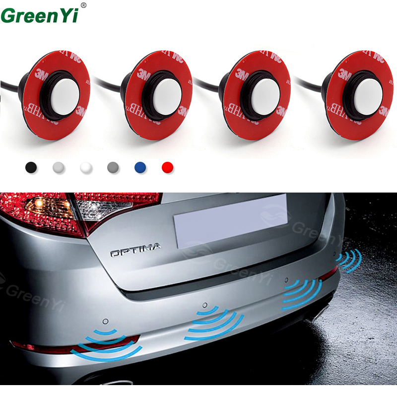 4pieces/lot Original Auto Parking Sensors 16mm Adjustable Flat Radar Sensor Car Parktronic Assistance With 2 Pin Plug + Drill