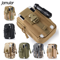 Universal Outdoor Sports Molle Hip Waist Belt Bag Zipper Wallet Purse Phone Case Cover For Samsung