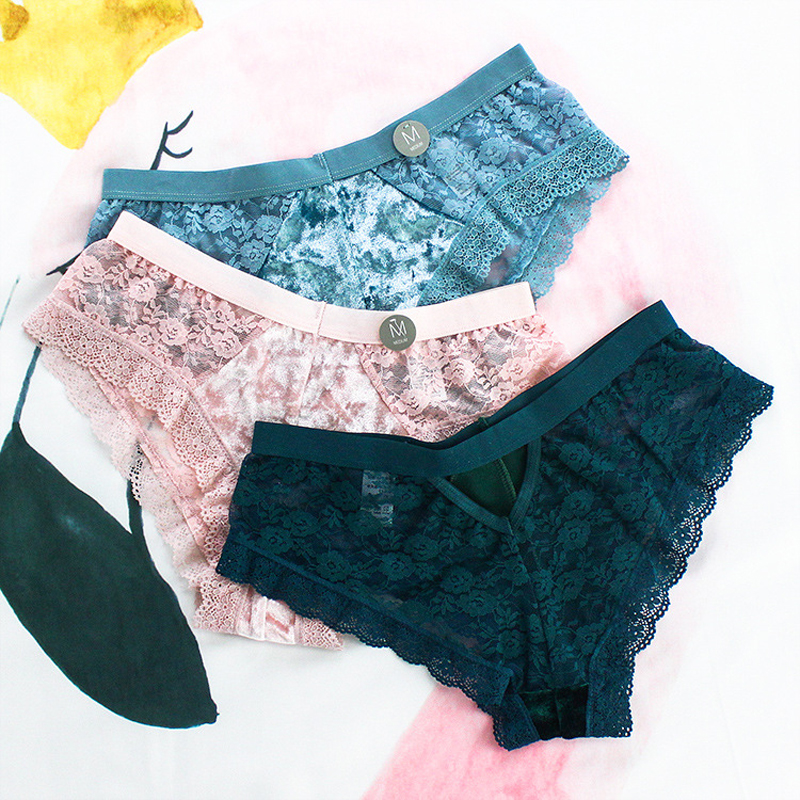 SP&CITY European Style Vintage Lace   Panties   Feamle Sexy Underwear Women Crotch Cotton Briefs Ruffle Sexy   Panties   Sex String