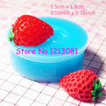 SYL001 Strawberry (Half) Silicone Mold Flexible Mold Miniature Food, Sweets, Jewelry, Charms (Clay Fimo Resin Gum Paste Fondant)