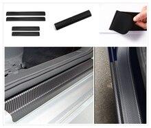 4Pcs auto parts carbon fiber door plaque anti-scratch protective film for Audi A4 Avant A4 Cabriolet A6L A8L
