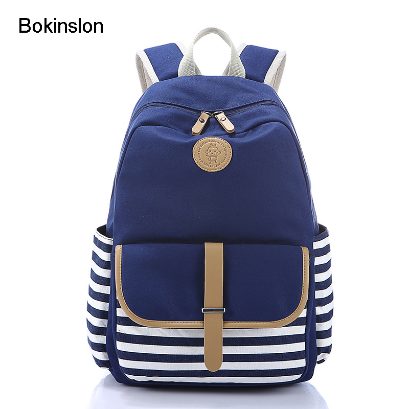 где купить Bokinslon Men Canvas Backpack Fashion Pure Color Popular Backpacks Man All-Match Practical Bags Casual Women Backpack по лучшей цене