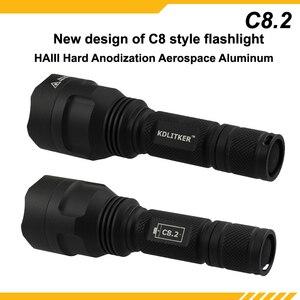 Image 4 - New KDLITKER C8.2 Cree XHP50.2 White / Neutral White / Warm White 2600 Lumens 5 Mode LED Flashlight   Black ( 1x18650 )