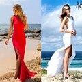 2015 летние сексуальные женщины макси платье красный бинты длинное платье сексуальная обернуть вокруг дизайн халат longué роковой женщины одеваются летнее платье