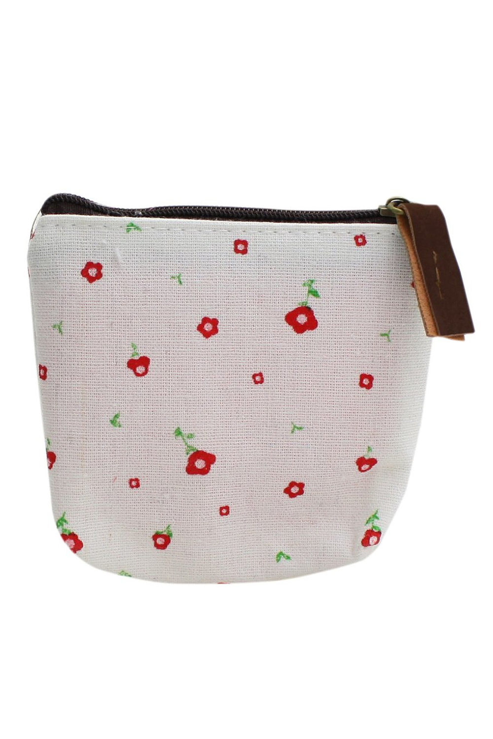 Lady Small Canvas Purse Wallet Coin(white)