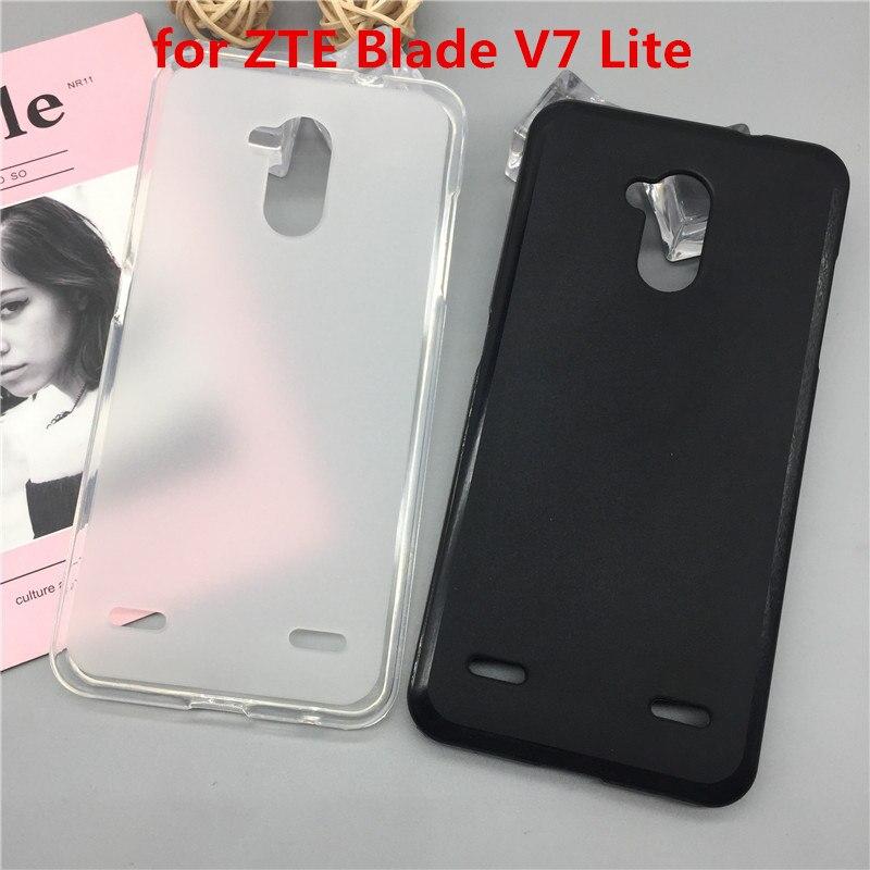 Funda de lujo Para ZTE Blade V7 Lite funda de silicona suave Para teléfono ZTE Blade V7 Lite TPU funda protectora completa carcasa negra