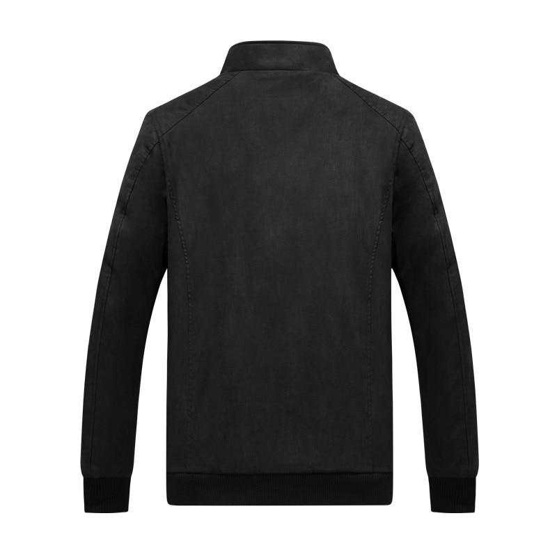 2019 Color Cómodo Tangnest Nuevo Black khaki Hombres Collar coffee Casuales De bolsillo Chaqueta Chaquetas Hombre Mandarín Mwj2547 Multi Abrigo qqA65