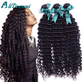 Peruvian deep curly virgin hair 4pcs unprocessed human peruvian curly hair Peruvian deep curly virgin hair weaving black on sale