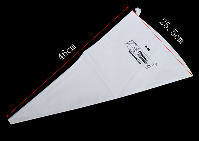 Saco de confeiteiro de algodão em 35/40/46/50/55/60cm, bolsa cozinhada em creme de 100% algodão saco de confeitar ferramentas de bolo h561, acessórios de cozinha eco
