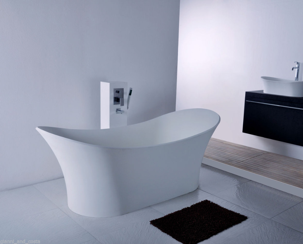 1750x750x680mm Solid Surface Stone CUPC Approval Bathtub Rectangular ...