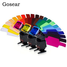 Gosear 15x6cm 20 pièces assorties de couleur universel Transparent Flash couleur lumière filtres Gels pour Photo Studio LED lampe de poche stroboscopique