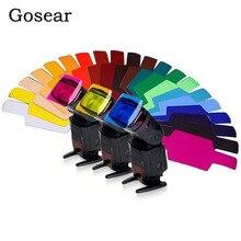 Gosear 15x6cm 20PCS Farbe Sortiert Universal Transparent Flash Farbe Licht Filter Gele für Foto Studio LED strobe Taschenlampe