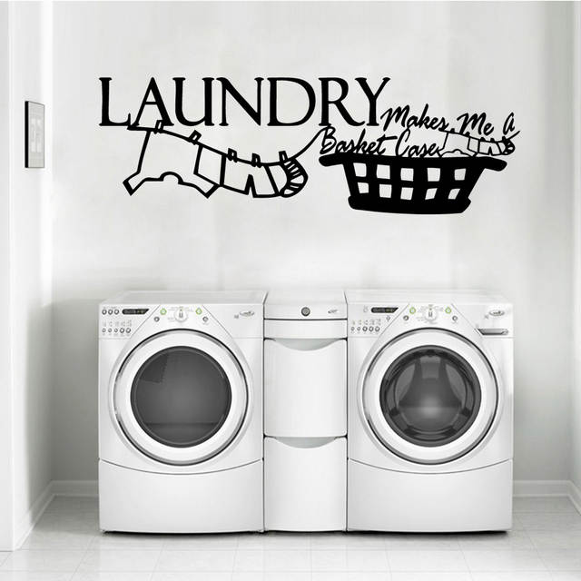 Classic laundry Stickers Vinyl Wall Decals For Laundry Room Wall Sticker  Decor Poster home accessories Wall Decal muursticker