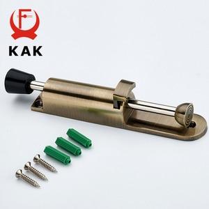 Image 4 - Kak batentes da porta com pé, alavanca de liga de zinco ajustável, suporte de porta em bronze