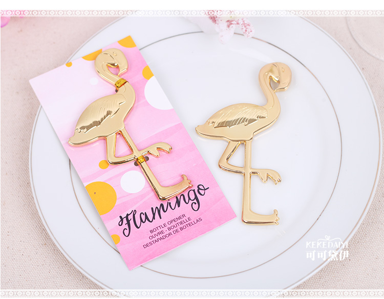 Flamingo Wine Bottle Opener Wedding Party favor gift guest present destapador de botellas