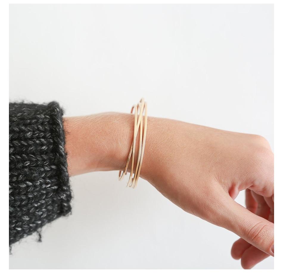 2 - EManco, Multicouches En Acier Inoxydable, Bracelets Pour Femmes,