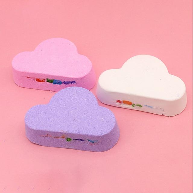 Natural Skin Care Cloud Shape Rainbow Bath Bubble Exfoliating Moisturizing Bath Ball Bombs Skin Care Romantic Bath Salt Mdf 1
