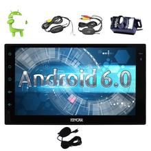 Android 6.0 Car PC Stereo with touch screen 2Din Vehicle Radio Receiver GPS Navigation Entertainment External Microphone+Camera