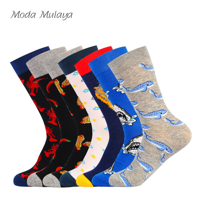 2019 New Arrival Mens Happy   Socks   High Quality Combed Cotton Unisex   Socks   Colorful Thermal Funny   Socks   for Male Female Gift