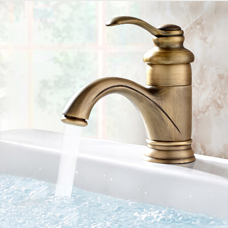 Brass Bathroom Basin Mixer Tap Antique Faucet Vessel Sink Basin Faucets Single 3 Colors Hot&Cold Wash Taps rubinetto  antique bathroom vanity sink faucet single ceramic handles brass hot and cold basin mixer copper pop up drain