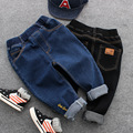 Children's spring jeans children's clothing 2017 new boys Korean version of embroidery letters casual long pants age from 2-8T