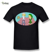 Funny Male Link Beavis and Butthead T Shirt The Legend Of Zelda Homme Tee Soft Stylish T-Shirt