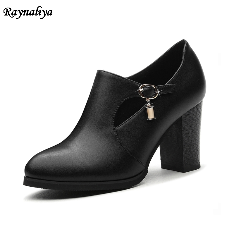 Women Boots New Sexy Pointed Toe Platform Shoes Woman Thick High Heels Autumn Ankle Boots Red Black Ladies Shoes LSN-B0067 2016 new arrive summer boots fashion peep toe thick high heels women boots cut outs platform shoes woman ankle boots for women