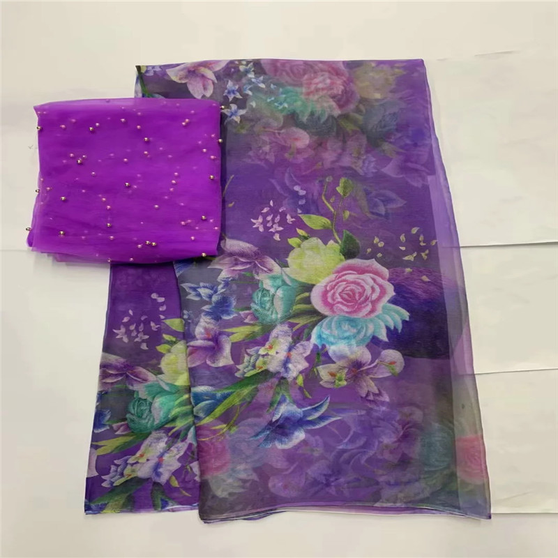 Hot selling satin silk fabric 5 yards/lot colorfast Nigrian design African wax pattern satin silk fabric for clothing LXE062568-in Fabric from Home & Garden    1