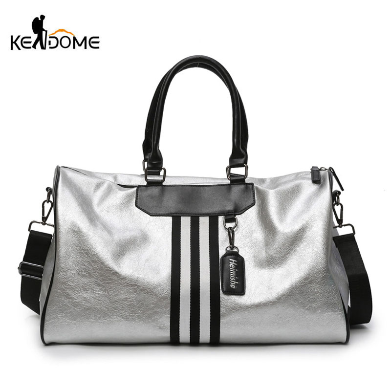 Women Soft Leather Fitness Gym Bags for Men Striped Webbing Training Shoulder Sport Bag Handbag Travel Bag Sac De Sports XA2WDWomen Soft Leather Fitness Gym Bags for Men Striped Webbing Training Shoulder Sport Bag Handbag Travel Bag Sac De Sports XA2WD
