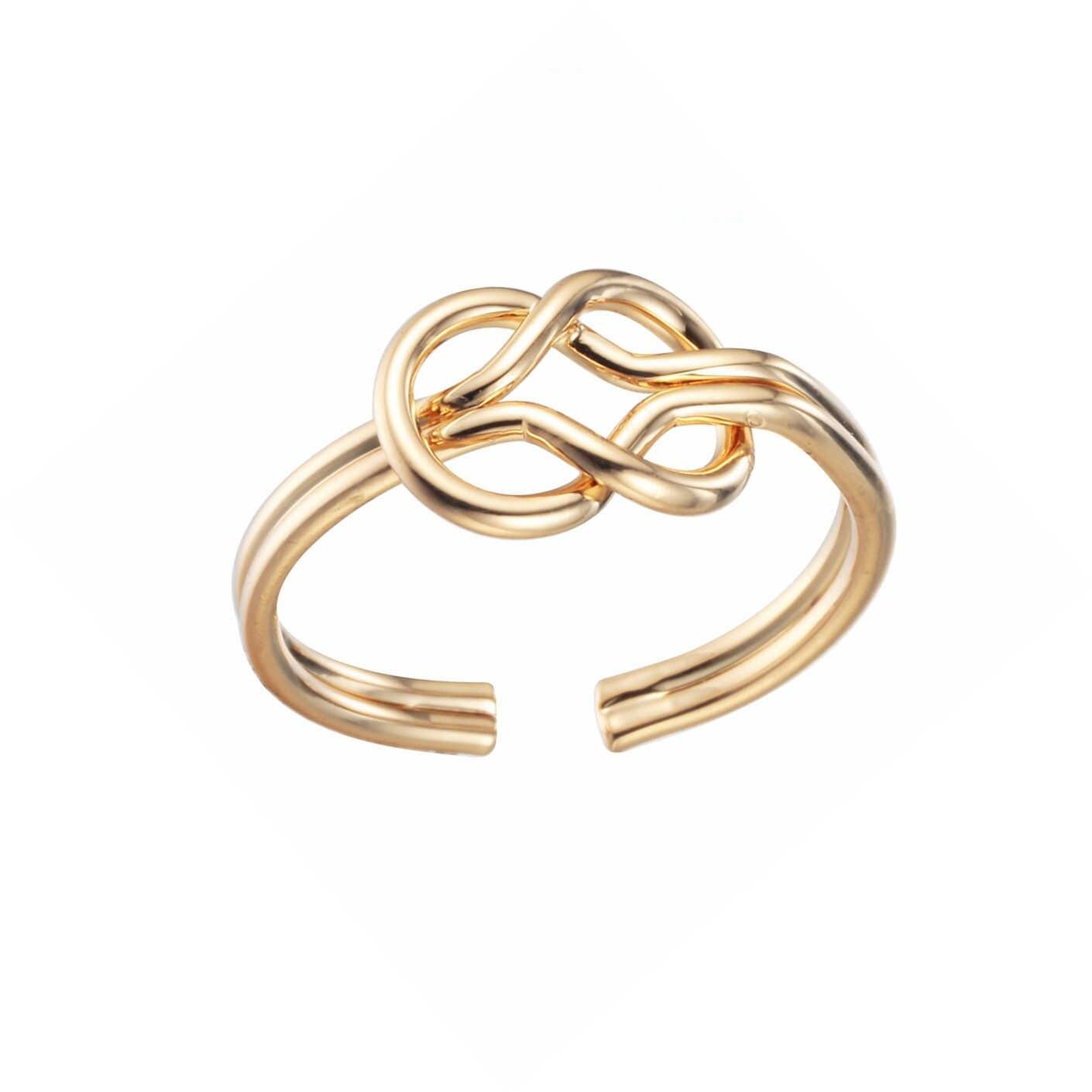 Cxwind אינפיניטי נצח צלב קשר טבעות החבר הכי טוב מתנות אהבה אינסופית סמל קסמי טבעת אצבע תכשיטי נשים המפלגה Bijoux