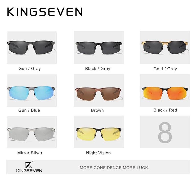 Kingseven marca hombres gafas polarizadas recubrimiento gafas de sol - Accesorios para la ropa - foto 4