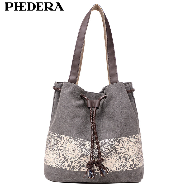 2017 New Autumn Trend Canvas Bag for Women Pattern Large Capacity Female Shoulder Bags Casual shopping Handbags Grey Blue Bag free shipping casual canvas shopping bags black color with fish pattern shoulder bags shopping bag handbags e08