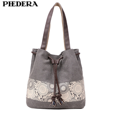 2019 Spring Trend Canvas Bag for Women Pattern Large Capacity Female Shoulder Bags Casual shopping Handbags Grey Blue Bag