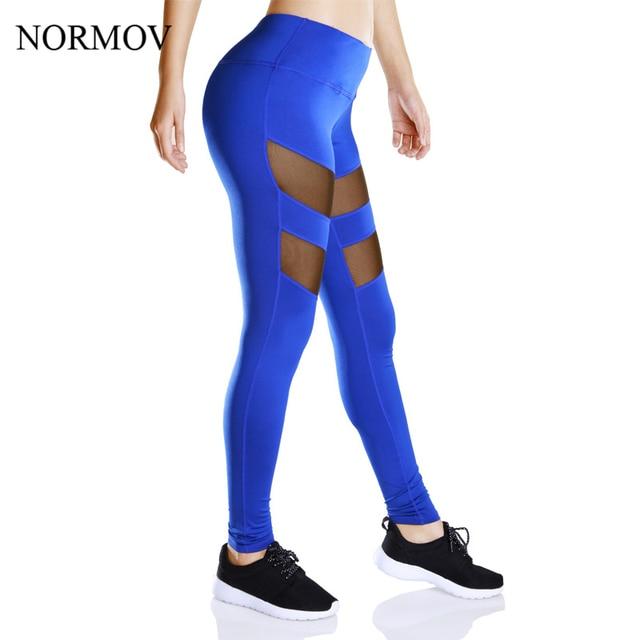 NORMOV S-XL 2 Colors Workout Leggings Women Adventure Time Jeggings Super Soft Mesh Leggings High Waist Sexy Leggins Summer