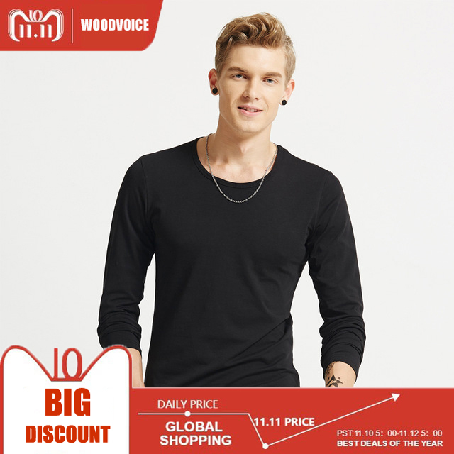 2017 New Fashion Men T Solid Shirts Fashion Fitness Long Sleeve T-shirts HommeTops&Tees Camisetas Hombre Hip Hop