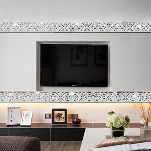 3d acrilico adesivi murali specchio d\'argento complementi arredo ...