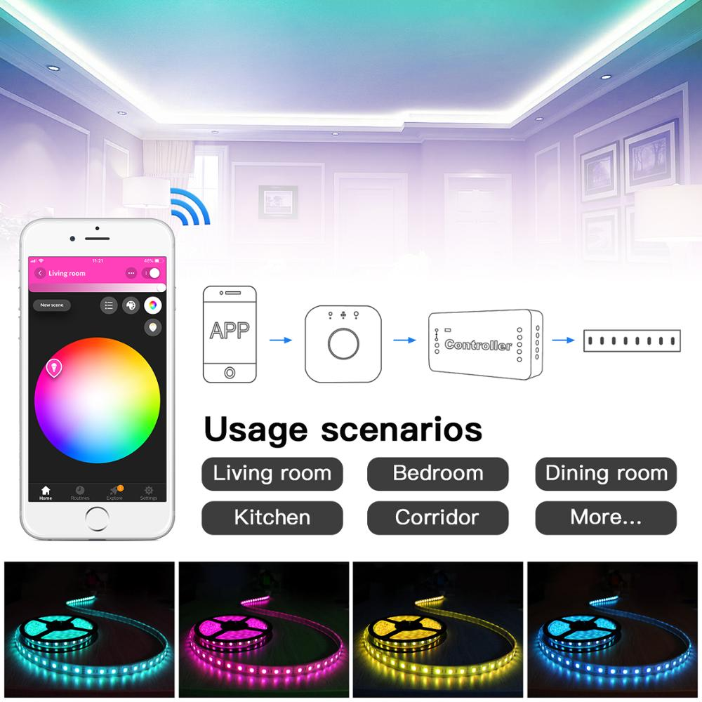 GLEDOPTO DC12-24V RGB+CCT Zigbee LED Controller,Zigbee controller,home automation working with Echo plus,Echo show,smart things