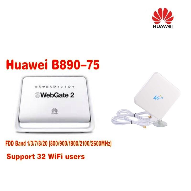 Unlocked Huawei B890 (B890-75) 4g lte router 4G LTE TDD/FDD Plus with 35dbi 4g antenna