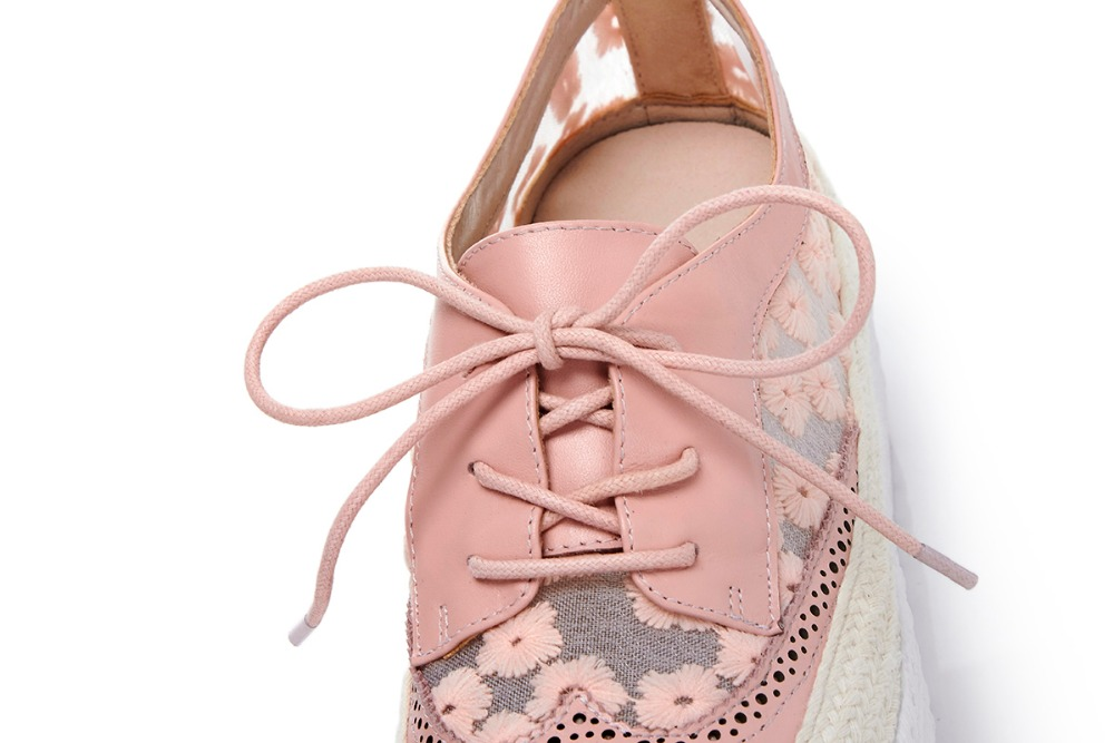 Chaussures Lacets Imprimer blanc En Doux Vulcanisé Streetwear Med Broder Rond Lenkisen De Femmes L81 Causal rose Cuir Solide Bout Noir Talons Vache YgyIf7mvb6