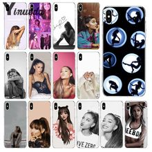Yinuoda Cat Ar Ariana Grande Transparent Soft Shell Phone Cover for Apple iPhone 8 7 6 6S Plus X XS MAX 5 5S SE XR Cellphones yinuoda cat ar ariana grande soft silicone tpu phone cover for apple iphone 8 7 6 6s plus x xs max 5 5s se xr cellphones