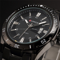 CURREN Brand Military Men Wrist Watches Full Steel Men Famous Business Quartz Watch Clock Male Date