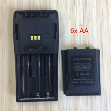 2X 6x AA battery case box for Motorola DEP450 DP1400 PR400 CP140 CP040 CP200 EP450 CP180 GP3188 etc wakie talkie with belt clip