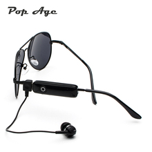 Pop Age 2018 New Trend Pilot Sunglasses Men Women Smart Stereo Bluetooth Driving Sun glasses Calling Round USB earphone Oculos