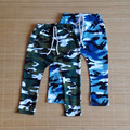 Bamicai Hot selling size100~140 children camo army pants for boys trousers kids child harem pants camouflage